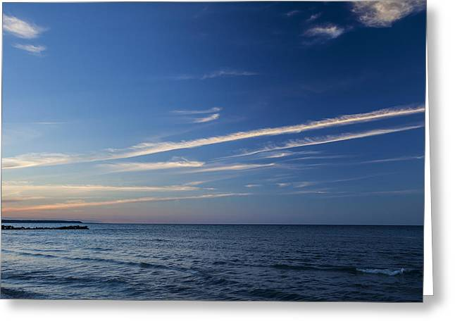 Atwater Greeting Cards - Waves of Blues Greeting Card by CJ Schmit