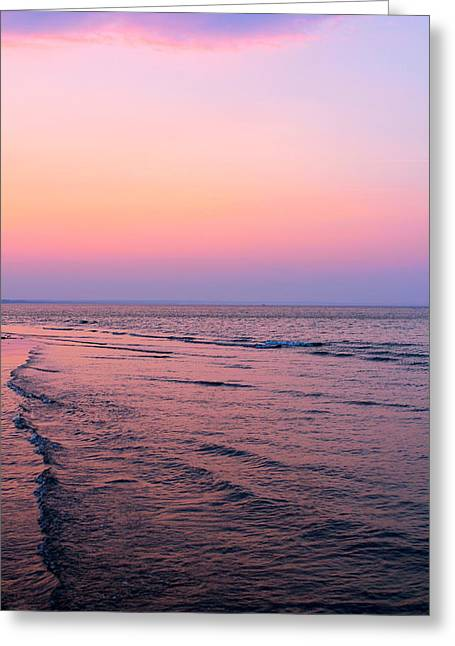 Breezy Greeting Cards - Waves of Dusk Greeting Card by Jon Gray