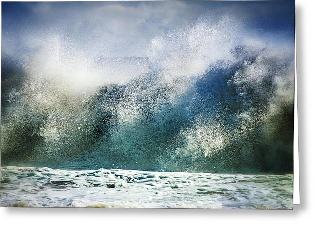 Babylon Greeting Cards - Waves of Fury Greeting Card by Vicki Jauron