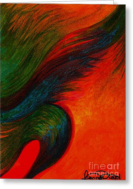 Waves Of The Wind Greeting Card by Fanny Diaz
