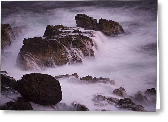 Cyril Greeting Cards - Waves On Rocks Nazca Desert  Peru Greeting Card by Cyril Ruoso