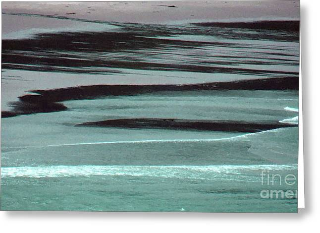 On The Beach Digital Greeting Cards - Waves On The Beach Greeting Card by Methune Hively