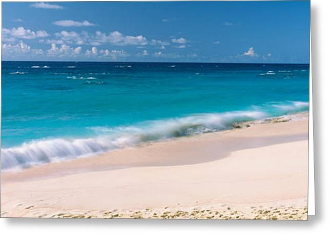 Panoramic Ocean Greeting Cards - Waves On The Beach, Warwick Long Bay Greeting Card by Panoramic Images