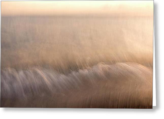 Waves On The North Shore Of Yellowstone Greeting Card by Phil Schermeister