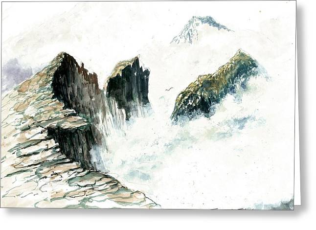 Waves On The Rocks Greeting Card by Steven Schultz
