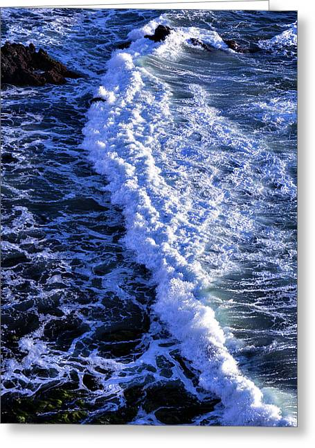 Gorgeous Greeting Cards - Waves Pacific Ocean Greeting Card by Garry Gay