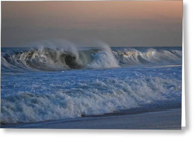 Fun New Art Greeting Cards - Waves Point Pleasant Beach NJ Greeting Card by Terry DeLuco
