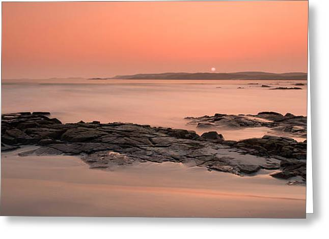 County Galway Greeting Cards - Waves Washing Over Rocks On Beach Greeting Card by Panoramic Images