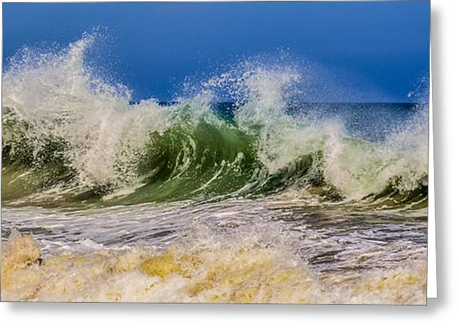 Surfer Art Greeting Cards - Waves Greeting Card by Zina Stromberg