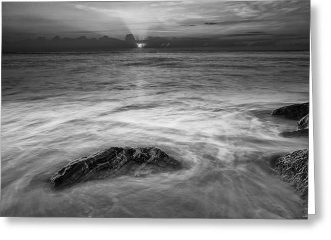 Art In Acrylic Greeting Cards - Wavy Day II Greeting Card by Jon Glaser