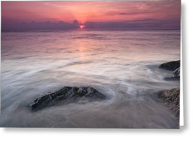 Red Photographs Greeting Cards - Wavy Day Greeting Card by Jon Glaser