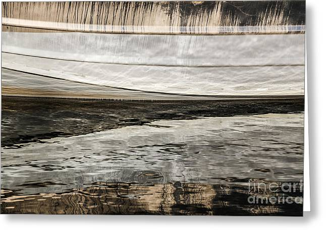 Sue Smith Greeting Cards - Wavy Reflections Greeting Card by Sue Smith