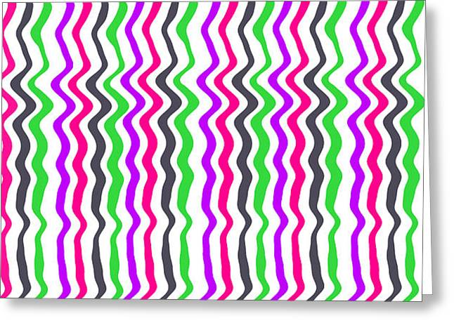 Wavy Stripe Greeting Card by Louisa Hereford