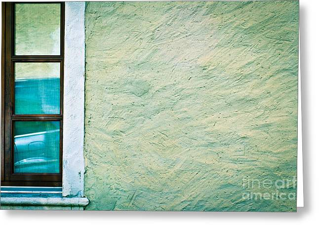 Silvia Ganora Greeting Cards - Wavy wall with window Greeting Card by Silvia Ganora