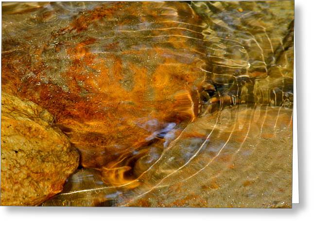 Kirsten Giving Greeting Cards - Wavy Water on Colorful Rocks Greeting Card by Kirsten Giving