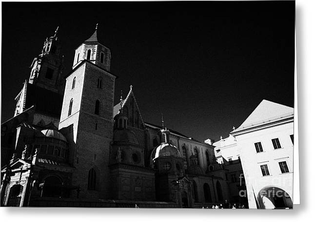 Polish City Greeting Cards - Wawel cathedral and sigismunds gold roofed chapel in Wawel Castle Krakow Greeting Card by Joe Fox