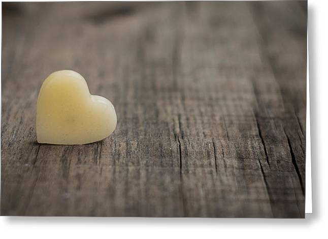Concept Photographs Greeting Cards - Wax heart Greeting Card by Aged Pixel