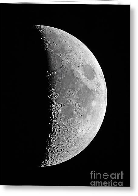 Waxing Crescent Greeting Cards - Waxing Crescent Moon, 2013 Greeting Card by John Chumack