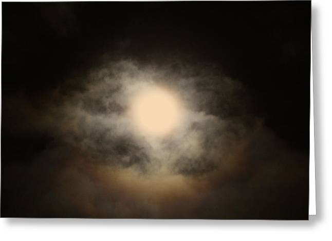 Waxing Crescent Greeting Cards - Waxing Gibbous No. 1 Greeting Card by C E Dyer