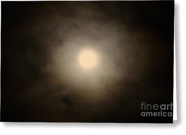 Waxing Crescent Greeting Cards - Waxing Gibbous No. 2 Greeting Card by C E Dyer
