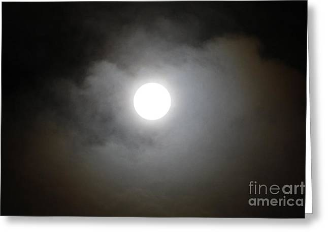 Waxing Crescent Greeting Cards - Waxing Gibbous No. 3 Greeting Card by C E Dyer