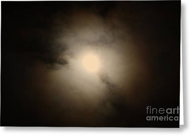 Waxing Crescent Greeting Cards - Waxing Gibbous No. 4 Greeting Card by C E Dyer