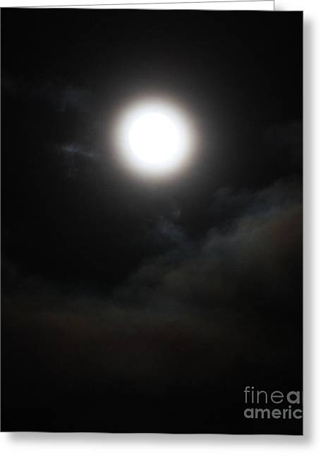 Waxing Crescent Greeting Cards - Waxing Gibbous No. 5 Greeting Card by C E Dyer