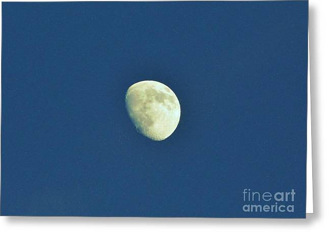 Man In The Moon Greeting Cards - Waxing Moon Greeting Card by D Hackett
