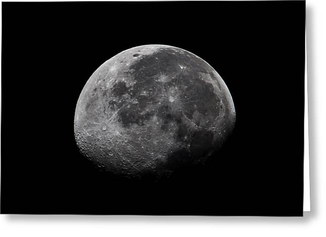 Moonlit Night Greeting Cards - Waxing Moon Greeting Card by Nila Newsom