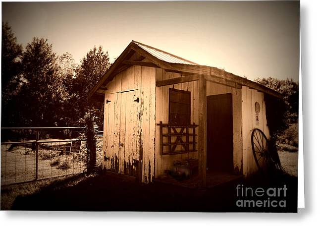 Old Barns Greeting Cards - Way back in the Day Greeting Card by Deborah Fay