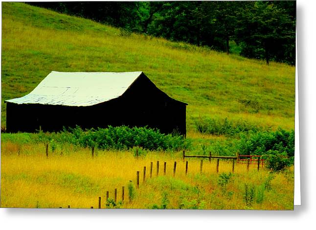 Tobacco Barns Greeting Cards - Way Back When Greeting Card by Karen Wiles