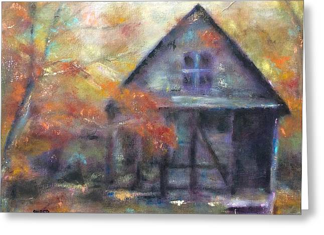 Shack Greeting Cards - Way Back When Greeting Card by Kathy Stiber