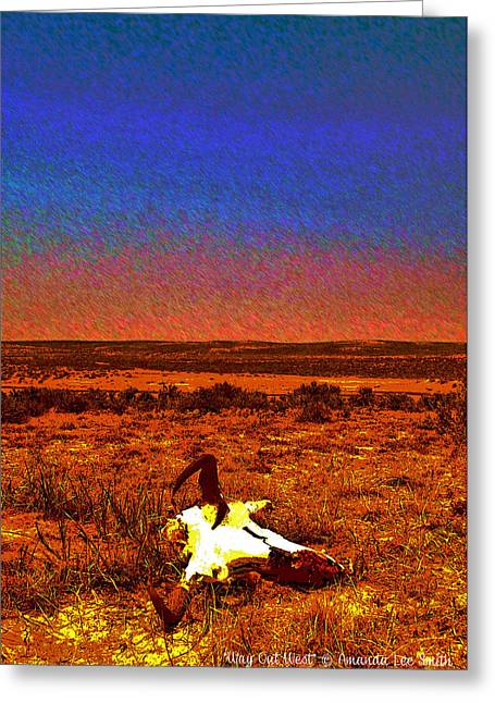 Cattle Greeting Cards - Way Out West Greeting Card by Amanda Smith