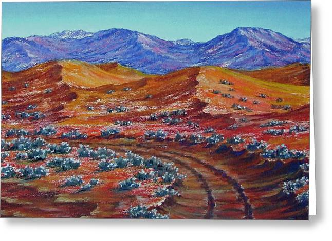 Outback Pastels Greeting Cards - Way through the Wilderness Greeting Card by David Clode