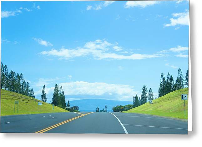 Paradise Road Greeting Cards - Way To Paradise Greeting Card by Sheela Ajith