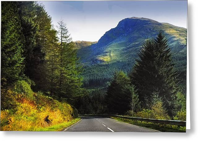Beautiful Scenery Greeting Cards - Way to Rest and Be Thankful. Scotland Greeting Card by Jenny Rainbow