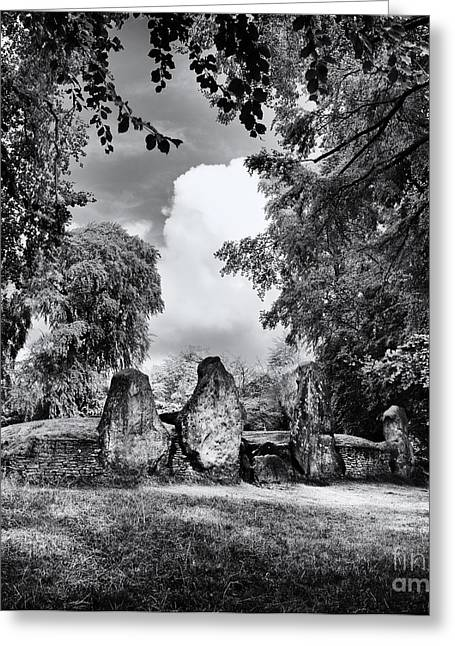 Bronze Age Greeting Cards - Waylands Smithy Long Barrow Greeting Card by Tim Gainey