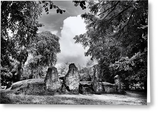Barrow Greeting Cards - Waylands Smithy Long Barrow Greeting Card by Tim Gainey