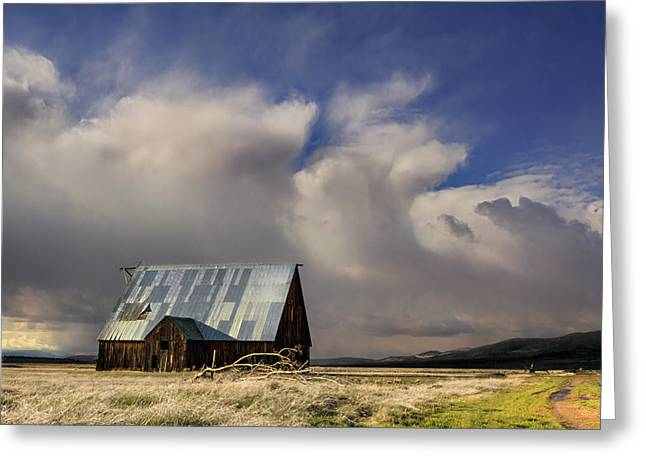 Metal Fish Art Photography Greeting Cards - Wayman Barn in Adin Greeting Card by Kathleen Bishop