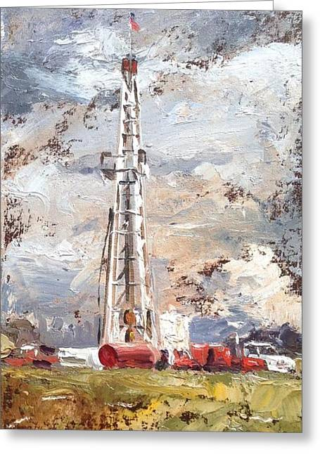 Spencer Meagher Greeting Cards - Wayne County Rig Greeting Card by Spencer Meagher