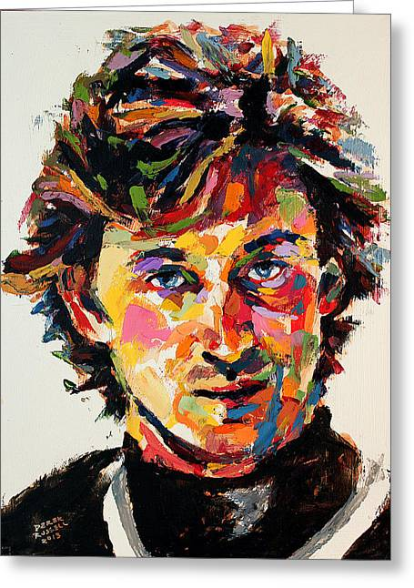 Wayne Gretzky Greeting Cards - Wayne Gretzky Greeting Card by Derek Russell