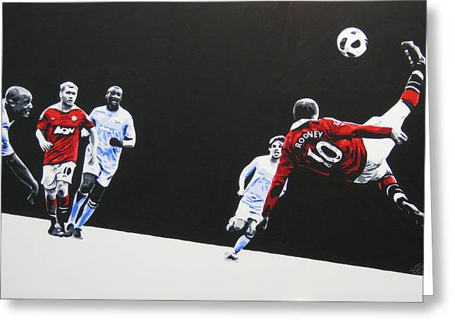 Wayne Rooney Greeting Cards - Wayne Rooney - Manchester United Fc Greeting Card by Geo Thomson