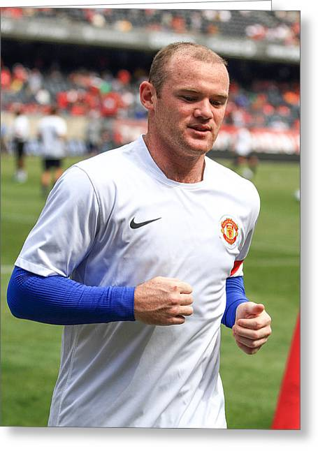 Wayne Rooney Greeting Cards - Wayne Rooney 5 Greeting Card by Keith R Crowley
