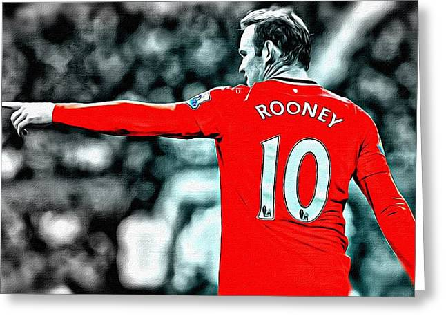 Wayne Rooney Greeting Cards - Wayne Rooney Poster Art Greeting Card by Florian Rodarte