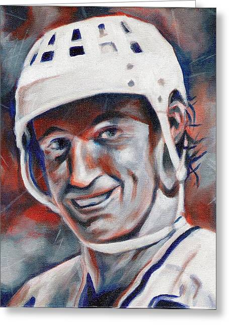 Wayne Gretzky Greeting Cards - Waynes World Greeting Card by Paul Smutylo