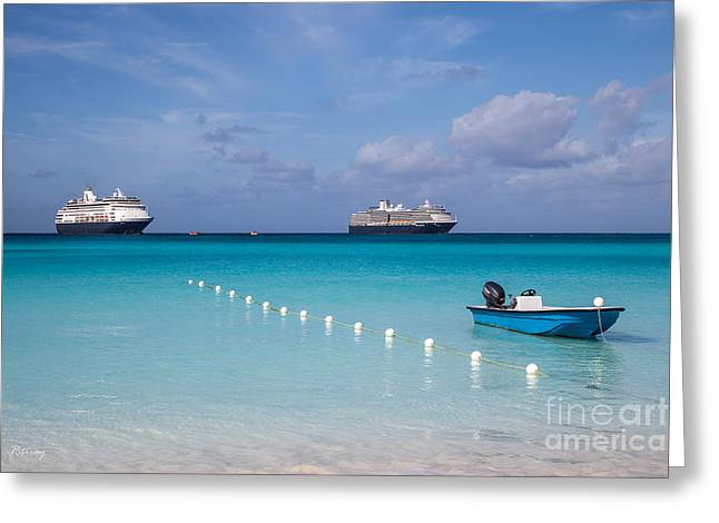 Toy Boat Greeting Cards - Accessing  Paradise  Greeting Card by Rene Triay Photography