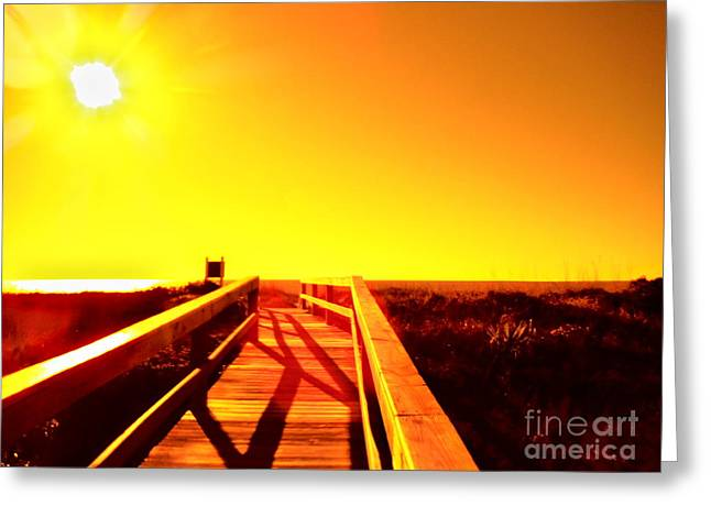 Walkway To The Beach Greeting Cards - Ways To The Beach Series 6 Greeting Card by Paddy Shaffer