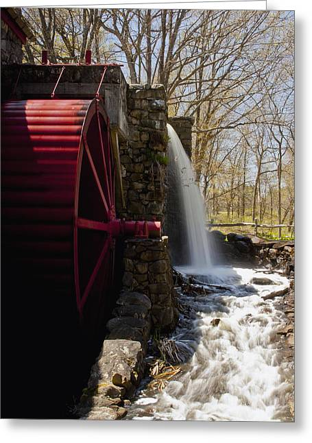 """wayside Grist Mill"" Greeting Cards - Wayside Grist Mill 2 Greeting Card by Dennis Coates"