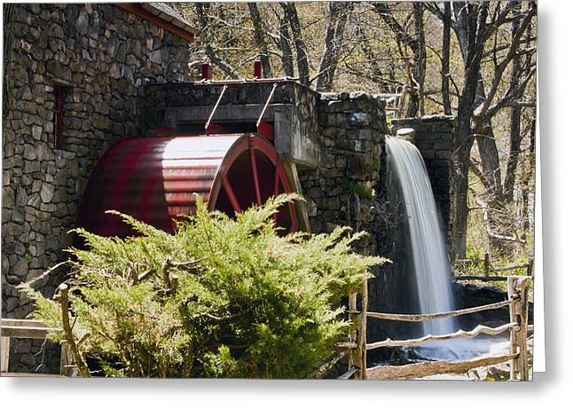 """wayside Grist Mill"" Greeting Cards - Wayside Grist Mill 3 Greeting Card by Dennis Coates"