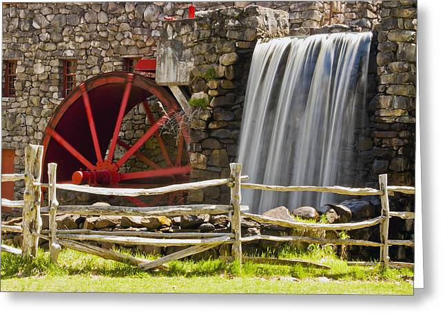 """wayside Grist Mill"" Greeting Cards - Wayside Grist Mill 4 Greeting Card by Dennis Coates"